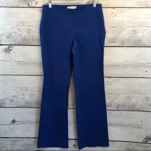 Doncaster Womens 6 Blue Pants Flat Front Mid Rise